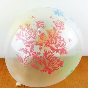 """Flowers Clear Latex Balloons, 10 Pieces, 12"""" 🌸"""
